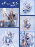 "Winter Pony, ""Snow Lily"" by pop-girl"