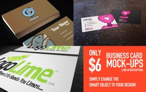 Business Card Mock Ups .PSD by ShindaTravis
