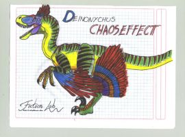 Deinonychus Chaos Effect by Kawekaweau