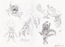 Sketches Of Midna Plus Lizzy The Lizard... Thing by ITAFTRS