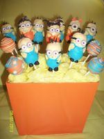 Minions Cake Pops by TattooSavage