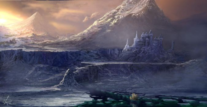 Arctic Fantasy Fortress by jjpeabody