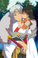 Rin's kiss to Sesshomaru by SystemZ3RO