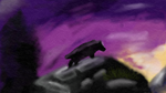 Beorn finger painting by TheHobbitArt