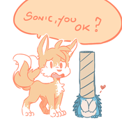 Sonic the actual hedgehog by DiachanX