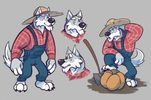 Farmer Wolfbrows by KingdomBlade