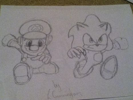 Mario And Sonic Olympic Games Cover by BabyDaisyNo-1