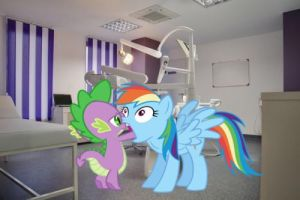 Dashie at the dentist by snakeman1992