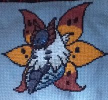 Volcarona Cross Stitch by immortal-spud-thief
