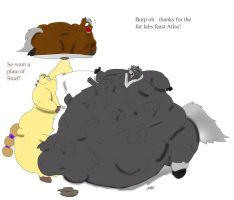 Fur Labs Feast Von the horse by sakenskunk