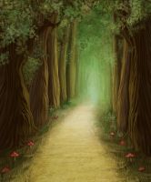 Fantasy forest road by Shooarts