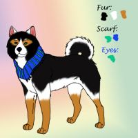 Fursona Design For I3ryzee by LacedShadowDiamond