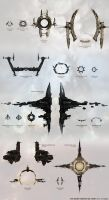 EVE Online Stargate size chart by funzinnu