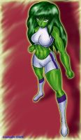 She-Hulk Gift Pic by Lonebeatle