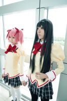 Madoka and homura by yui930
