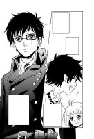 Ao no Exorcist - sample page by Bayou-Kun