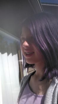 purple hair by corkyfashions