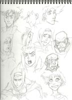 Cowboy Bebop Sketches by JohntheMurray