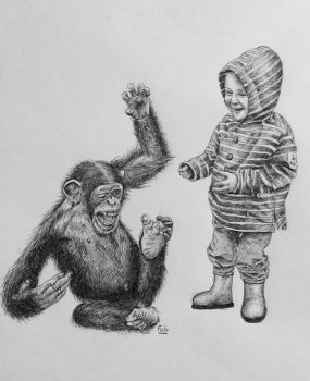 Lewis and the chimp by fab-garou