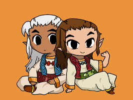 Chibi Owlan and Horwell by cathanupto