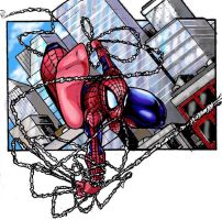 Spidey frame in color by DrabRats