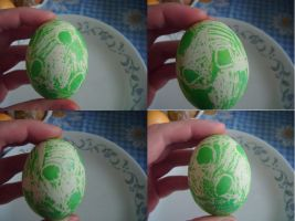 Attempted Creative Easter Eggs- Yoshi Egg by Ambrosial-Wolf