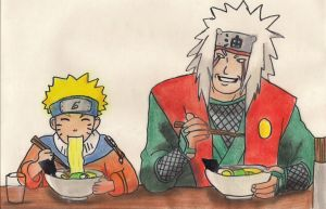 Naruto and Jiraiya by Cartoon-Elfje