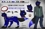 OC Reference Sheet: Quinn Diezan - Anthro/Feral by SidStraws