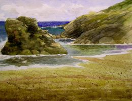 Tintagel bay by Mad-Margaret