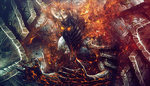 Lich King In Flames by SectoneART