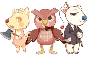 Animal Crossing Pixels by noizi