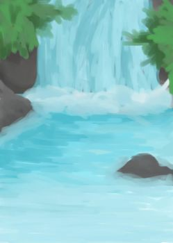 Waterfall by TheForgottenWeasley