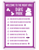 Night Vale Dog Park Rules by T16skyhopp
