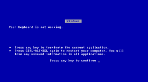 Blue Screen of Death by TheHappySpaceman01