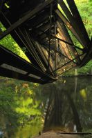 Broken bridge by Yollanda