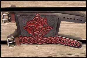 Celtic Horse Cuff by Wodenswolf