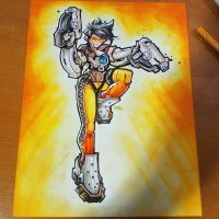 Commision: Overwatch - Tracer 01 by RobDuenas