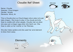 Cloudie the cloud dragon ref by HeroHeart001