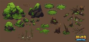MinoMonsters Forest Assets by hellcorpceo