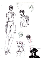 Character Sketches by Love-of-the-Pencil