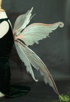 Moth Green Fairy Wings Side1 by FaeryAzarelle