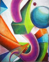 abstract in pastel by adagia