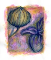Chinese Lantern and Lavendar by Bezmo