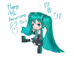 Happy 4th Anniversary Miku by atPrime