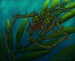 COW 358 - Toothy Kelp Dweller with Bulbous Growths by SpydrXIII
