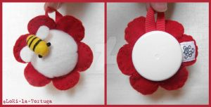 RED FLOWER PINCUSHION by LoRi-La-Tortuga