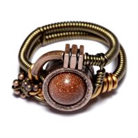 Steampunk Ring Sandstone by CatherinetteRings