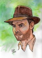 Pop Portraits: Indiana Jones by brodiehbrockie