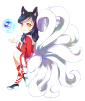 Ahri Commission by minteaparty