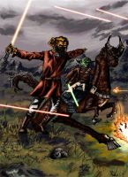 Plo Koon and Yoda to Battle by neojedi17